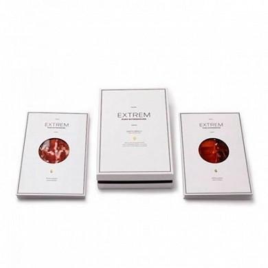 Esencia extremeña con sobres de jamón y paleta Ibérica mix Extrem caja