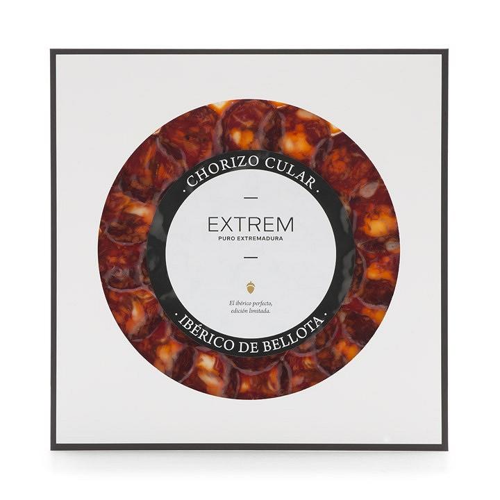 Chorizo cular ibérico de bellota loncheado 90gr